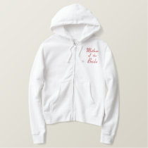 Embroidered Mother of the Groom Wedding Apparel Embroidered Hoodie