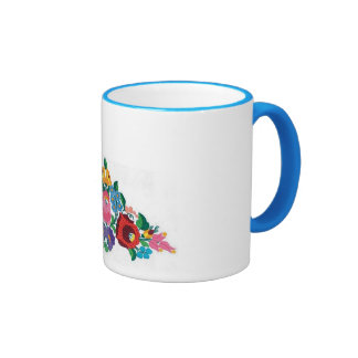 embroidered mug
