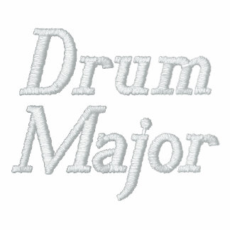 Embroidered Music Drum Major Hoodie