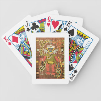 Embroidered mythological figure, Paracas Necropoli Playing Cards