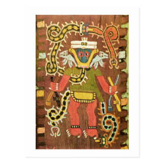 Embroidered mythological figure, Paracas Necropoli Postcard