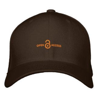 Embroidered (Orange on Dark/Light) Fitted Cap Baseball Cap