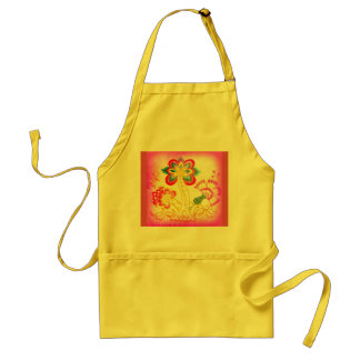 embroidered palm tree apron