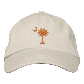 Embroidered Palmetto & Crescent Cap (orange)
