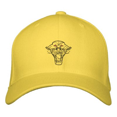 Embroidered Panther Hat Embroidered Hat