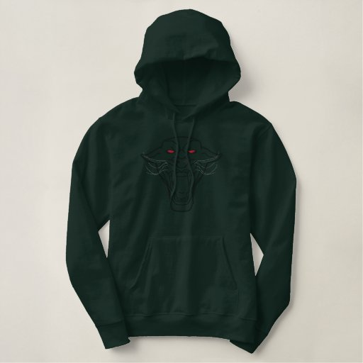 Embroidered Panther Hoodie
