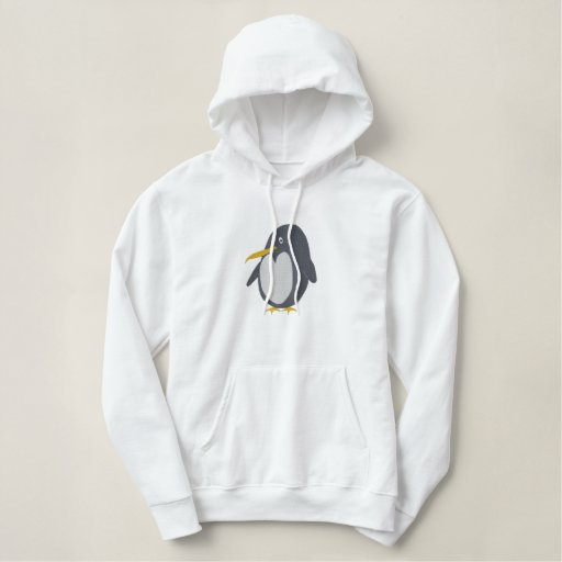 Embroidered Penguin Hoodie