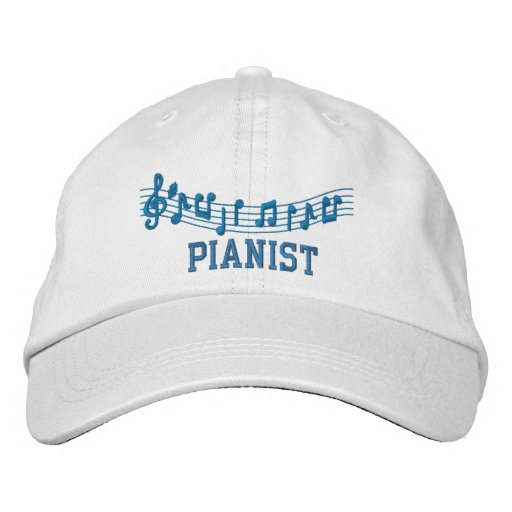 Embroidered Pianist Music Hat