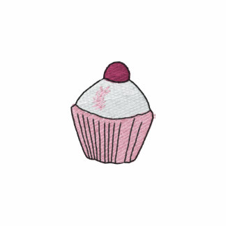 Embroidered Pink Cupcake