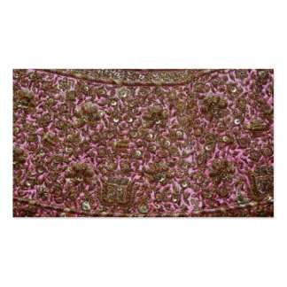 Embroidered Pink Fabric New Delhi India Business Card