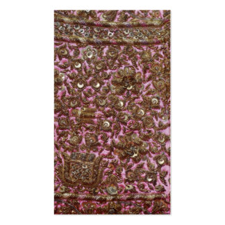Embroidered Pink Fabric New Delhi India Business Cards