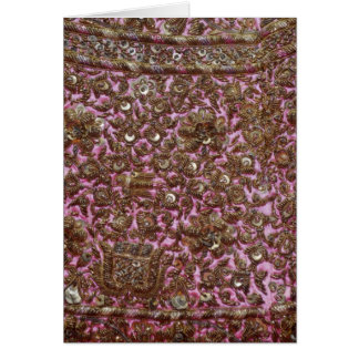 Embroidered Pink Fabric New Delhi India Card