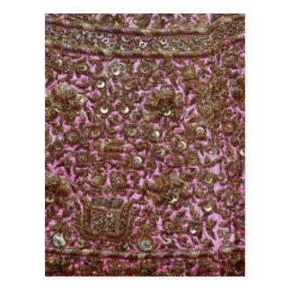 Embroidered Pink Fabric New Delhi India Postcard