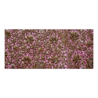 Embroidered Pink Fabric New Delhi India Rack Card