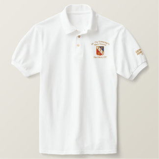 Embroidered Polo White