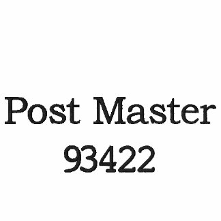 EMBROIDERED POST MASTER SHIRT EMBROIDERED POLO SHIRT