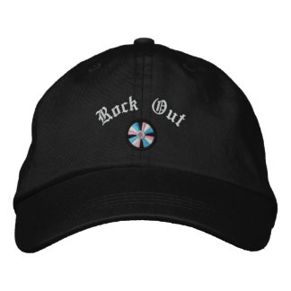 Embroidered Rock Out CD Compact Disc Embroidered Baseball Cap
