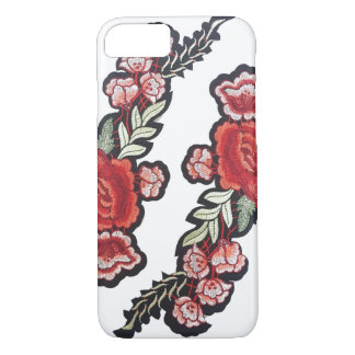 Embroidered roses red rose patch embroidery iPhone 8/7 case