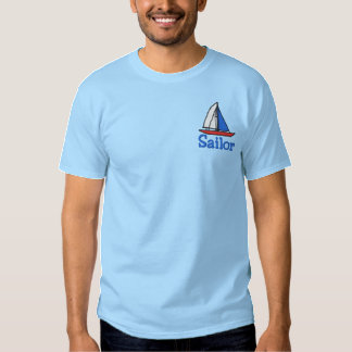 Embroidered Sailboat T shirt