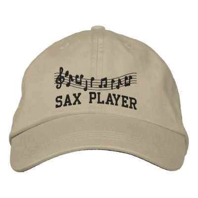 Embroidered Sax Player Hat Embroidered Hat