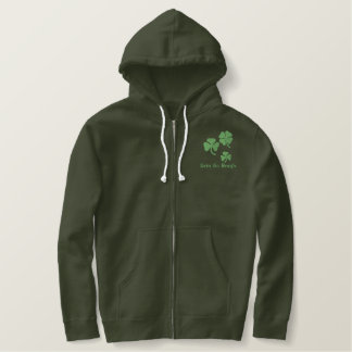 Embroidered Shamrock Apparel All Sizes Embroidered Hoodie
