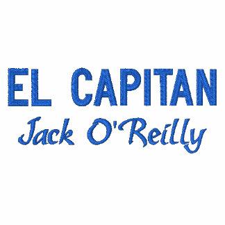 Embroidered Shirt de capitán azul