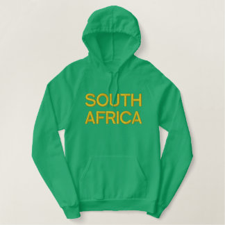 Embroidered South Africa pullover mens hoodie