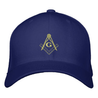 Embroidered Square and Compass Ballcap Cap
