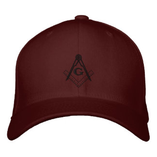 Embroidered Square and Compass Ballcap Embroidered Baseball Hat