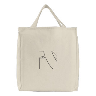 Embroidered Standing Rat (Outline) Tote