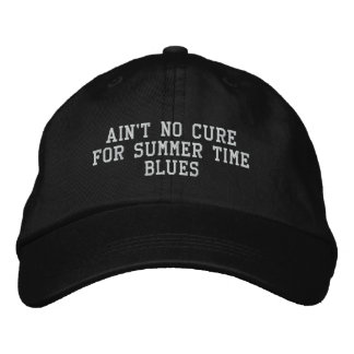 Embroidered 'Summer Time Blues' Hat