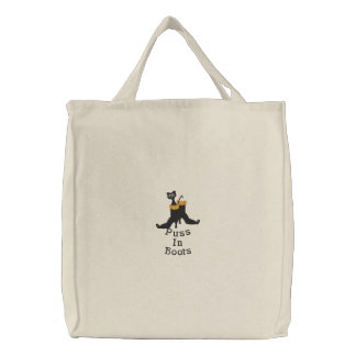 Embroidered Tote Bag-Puss in Boots