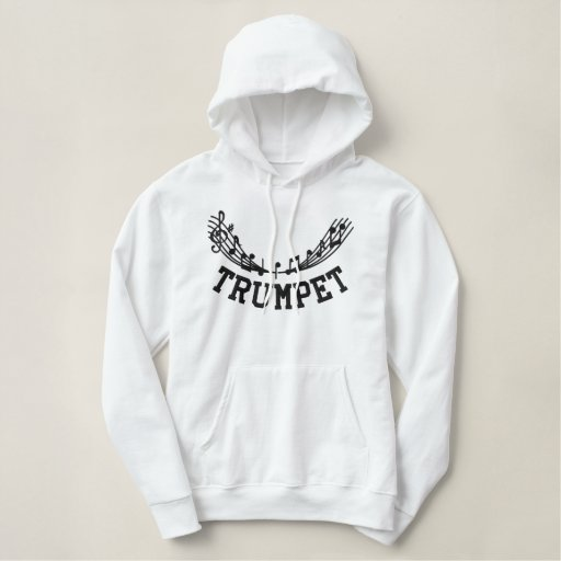 Embroidered Trumpet Hoodie
