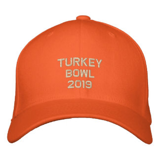 Embroidered Turkey Bowl  - Change to Current Year Embroidered Baseball Hat