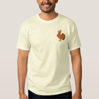 Embroidered Turkey T-Shirt