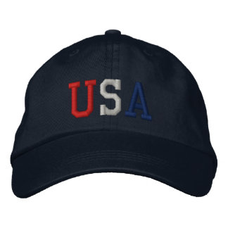 Embroidered USA Sports Hat