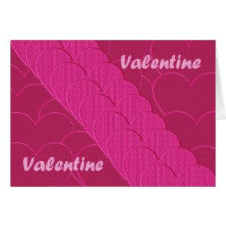 Embroidered valentine card