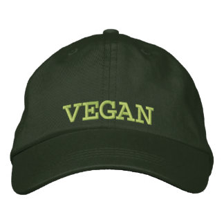 Embroidered Vegan Baseball Cap/Hat Embroidered Baseball Hat
