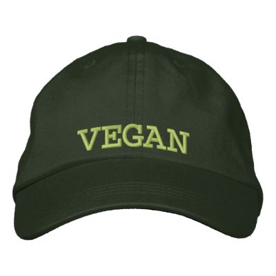 Embroidered Vegan Baseball Cap/Hat Embroidered Hats
