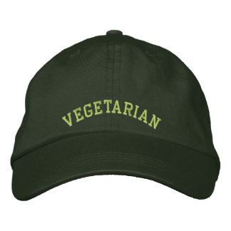 Embroidered Vegetarian Baseball Cap/Hat