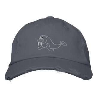 Embroidered Walrus Hat Embroidered Hats