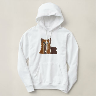Embroidered Yorkie Women Hoodie