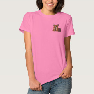 Embroidered Yorkie Women T-Shirt