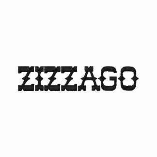 Embroidered Zip Hoodie Men's Zizzago Embroidered Hooded Sweatshirts