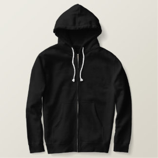 Embroidered Zip Hoodie With Chinese Fire Dragon