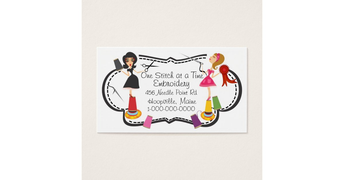 Embroidery Business Business Card | Zazzle.com