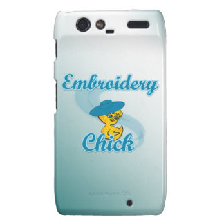 Embroidery Chick #3 Droid RAZR Covers