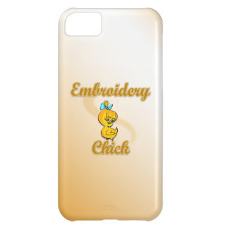 Embroidery Chick Cover For iPhone 5C