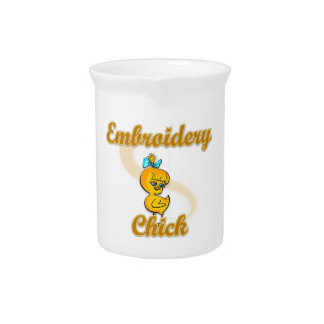 Embroidery Chick Pitchers