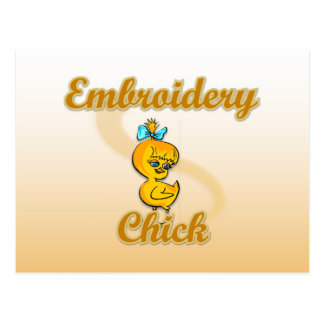 Embroidery Chick Postcard